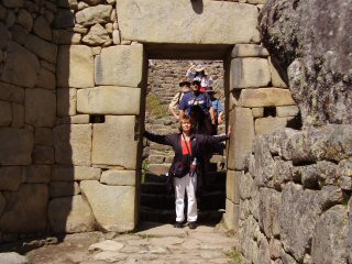 doorway to Machu Picchu