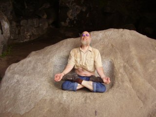 meditating in the Goddess Temple at Huayna Picchu