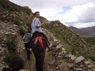 horseback ride to fortress monastery
