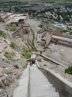 looking down from Zhongshan Castle
