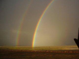 double rainbow on the Tibetan plateau