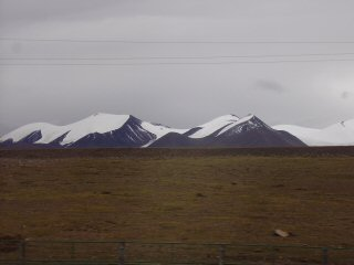 snow capped mountains Tibet