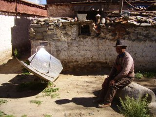 solar cooking at samye
